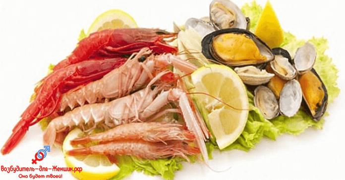 Свежие морепродукты с возбуждающим действием
