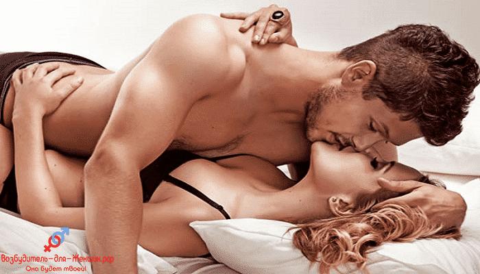 Фото мужчина и женщина страстно целуются под действием женских возбудителей