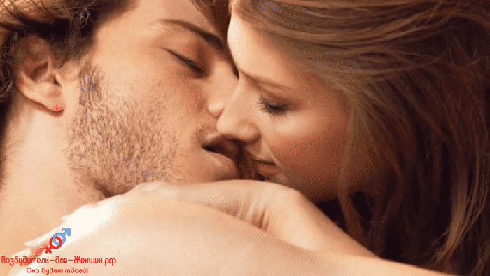 Фото пара страстно целуется под действием возбудителя Заманиха Плюс