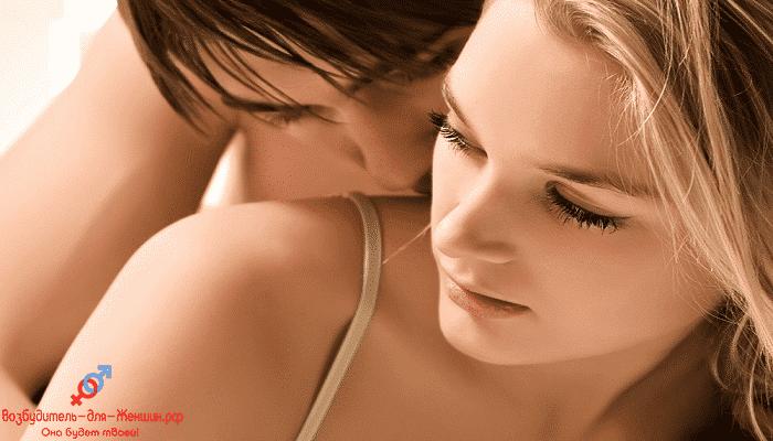 Фото парень целует женщину под действием Лаверона для женщин